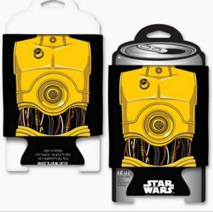 Star Wars C3PO Coozie Front Back
