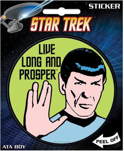 Star Trek Live Long and Prosper Sticker