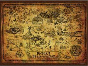 Legend Of Zelda Hyrule Map Puzzle Complete