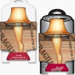 A Christmas Story Leg Lamp Diecut Can Cooler Front Back