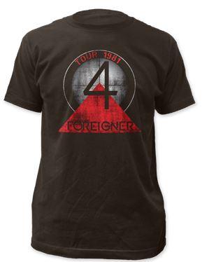 Foreigner Tour 81-82 t shirt