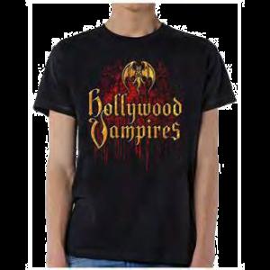 Hollywood Vampires Logo Drips t shirt
