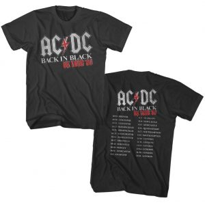 ACDC In Black UK Tour t shirt