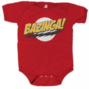 Big Bang Bazinga onesie red romper