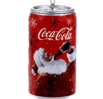 Coca Cola Santa can ornament