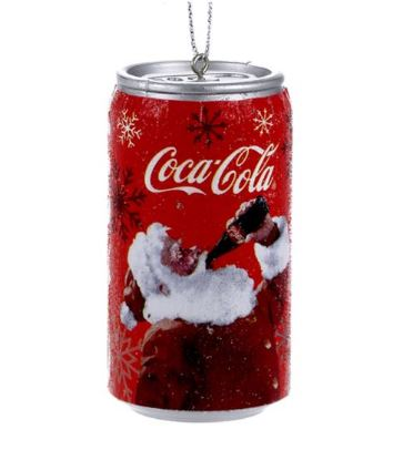 Coca Cola Santa can ornament
