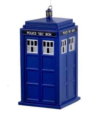 Dr. Who Tardis Ornament