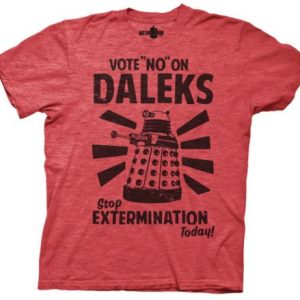 Dr. Who Vote No t shirt