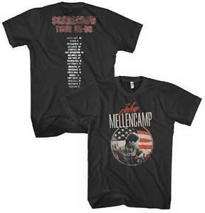 John Mellencamp Flag t shirt