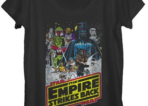 Star Wars Empire Strikes Back Juniors t shirt