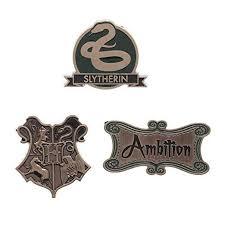 Harry Potter Slytherin House Lapel Pin Set
