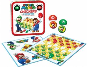 Super Mario Checkers & Tic Tac Toe pieces
