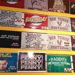 Retro Active T shirts Wall