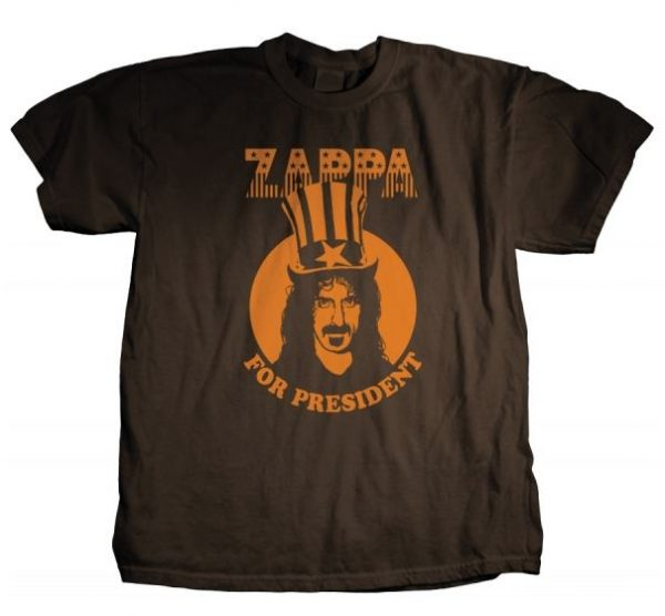 Frank Zappa For President t shirt
