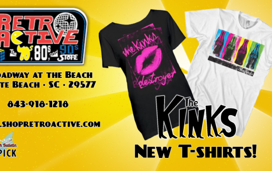 Retro Active The Kinks t shirts