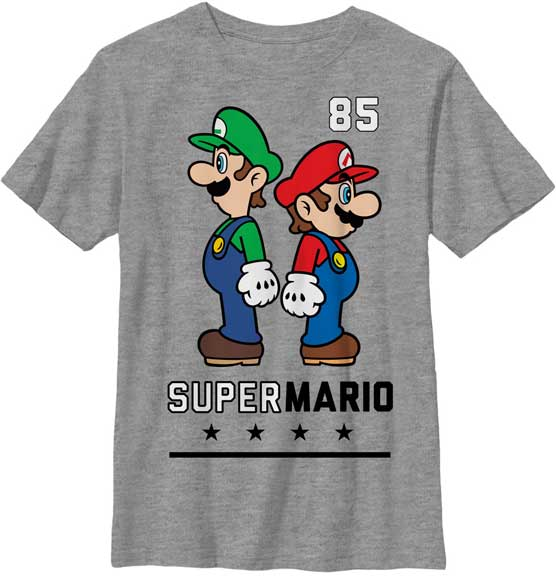 Mario and Luigi youth t shirt