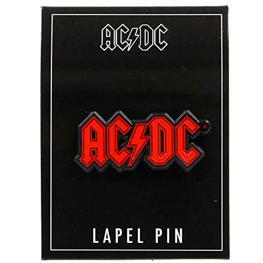 AC/DC Red Logo Lapel Pin
