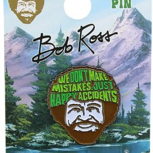 Bob Ross Happy Accidents Lapel Pin