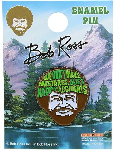 Bob Ross Happy Accidents Lapel Pin