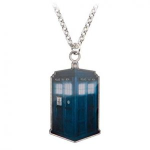 Doctor Who Stamp Cut Tardis Necklace