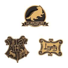 Harry Potter Hufflepuff House Lapel Pin Set