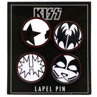 Kiss Faces Lapel Pin Set