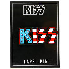 Kiss American Flag Logo Lapel Pin