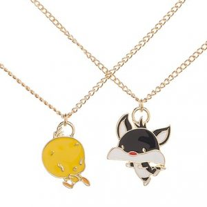 Loony Tunes Tweety/Slyvester Necklace Set