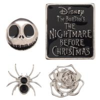 Nightmare Before Christmas 4pc Lapel Pin Set