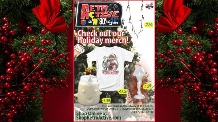 Retro Active post image 11-8-18 Christmas merch