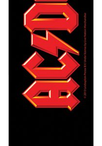 ACDC Red Logo Leather Guitar Strap