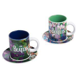 The Beatles 4pc Coffee Mug and Saucer Set