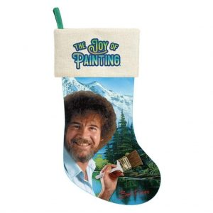 Bob Ross Christmas Stocking