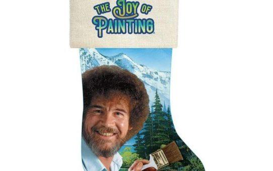 Bob Ross Christmas Stocking