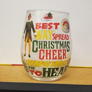Elf Christmas Cheer Stemless Wine Glass