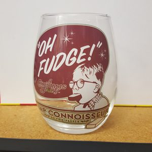 "A Christmas Story ""Oh Fudge"" Stemless Wine Glass"