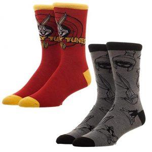 Looney Tunes 2pk Crew Socks
