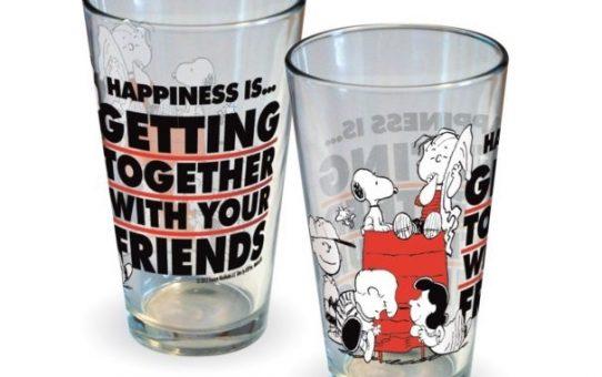 Peanuts Happiness Is Friends Pint Glass
