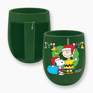 Peanuts Snoopy Claus Inverted Handle Mug