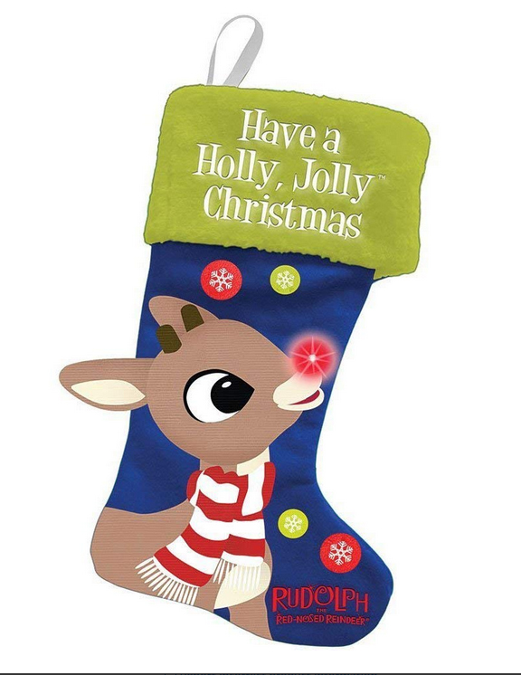 Rudolph LED Christmas Stocking