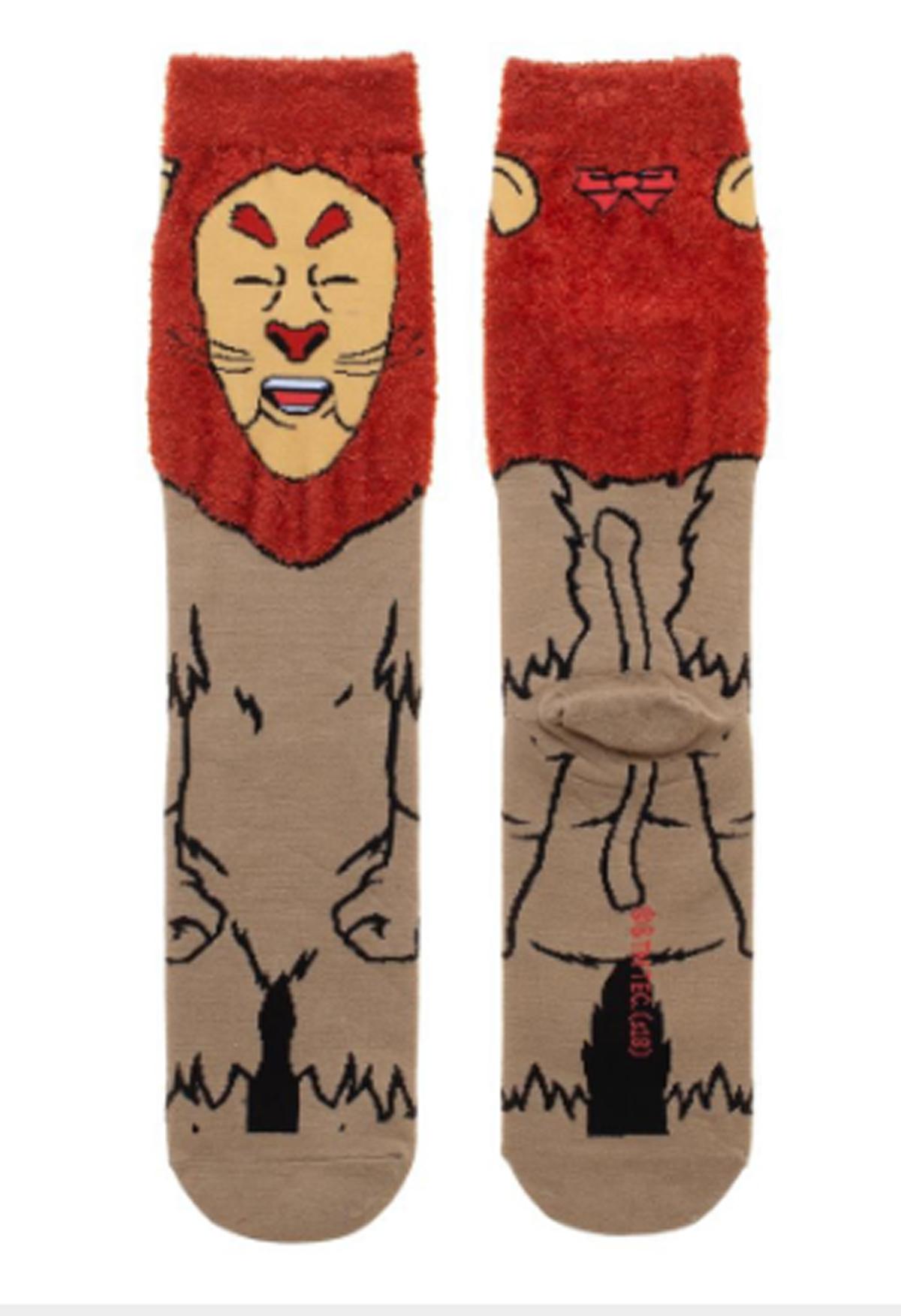 Wizard Of Oz Cowardly Lion Socks Shop Retro Active