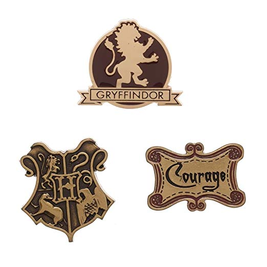 Harry Potter Gryffindor House Lapel Pin Set