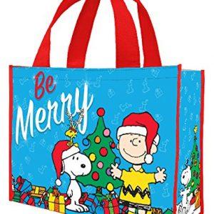 Peanuts Holiday Shopper Tote Bag