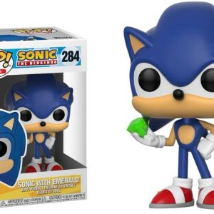 Sonic with Emerald Funko Pop Vinyl