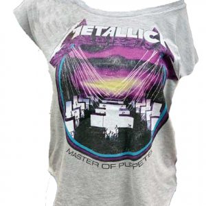Metallica Master of Puppets Off Shoulder Juniors