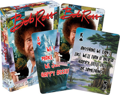 Bob Ross Paintings Playing Cards