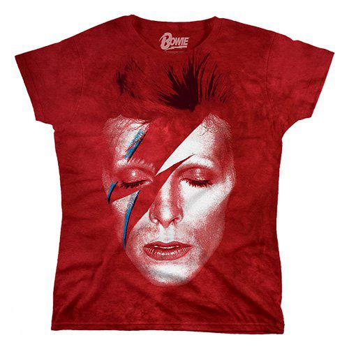 David Bowie Tie Dye Aladdin Sane Juniors
