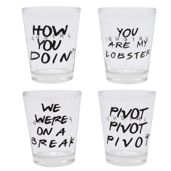 Friends 4pc Shot Glass Set