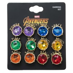 Avengers Infinity Stones 6pk Earrings