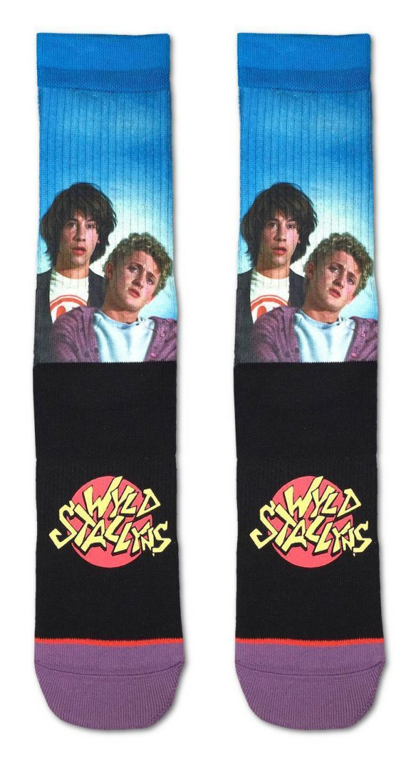 Bill and Ted Wyld Stallyns Socks